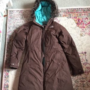 North Face brown parka